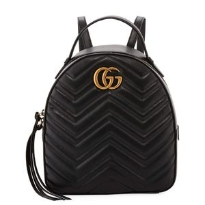 Gucci GG Marmont Quilted Leather black backpack